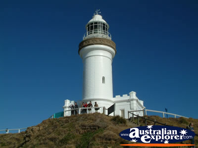 Looking up at Byron Bay Lighthouse . . . CLICK TO VIEW ALL BYRON BAY (LIGHTHOUSE) POSTCARDS
