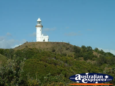 Lighthouse from a Distance . . . CLICK TO VIEW ALL BYRON BAY (LIGHTHOUSE) POSTCARDS