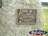 Tamworth Gordon Parsons Award . . . CLICK TO ENLARGE