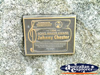 Tamworth Johnny Chester Award . . . CLICK TO ENLARGE