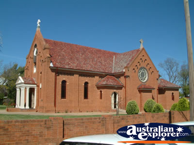 Narromine Church . . . CLICK TO VIEW ALL NARROMINE POSTCARDS