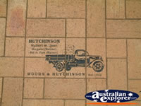 Lockhart History in Footpath Drawing of Ute . . . CLICK TO ENLARGE