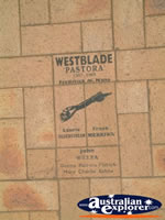 Lockhart History in Tiled Footpath . . . CLICK TO ENLARGE