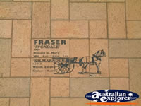 Lockhart History Drawings in Footpath . . . CLICK TO ENLARGE