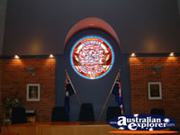 Coat of Arms in Council Chambers Inverell . . . CLICK TO ENLARGE