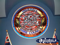 Closer View of Coat of Arms Inverell . . . CLICK TO ENLARGE