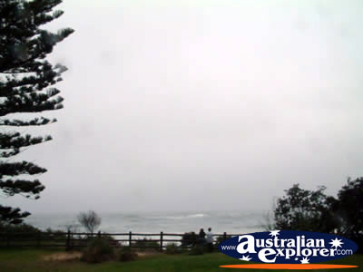 Wollongong Beach View in the Rain . . . CLICK TO VIEW ALL WOLLONGONG POSTCARDS