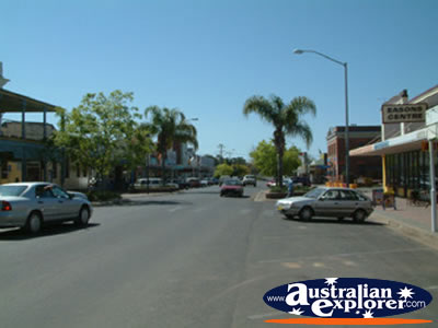 Main Street in Coonamble . . . CLICK TO VIEW ALL COONAMBLE POSTCARDS