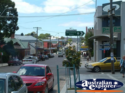 Busy Bega Street . . . CLICK TO VIEW ALL BEGA POSTCARDS