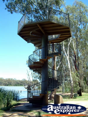 Wentworth viewing tower at river junction . . . CLICK TO VIEW ALL WENTWORTH POSTCARDS