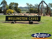 Wellington Caves Sign . . . CLICK TO ENLARGE