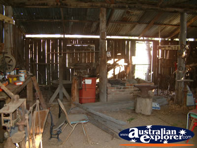 Inside Shed at Bingara Museum . . . CLICK TO VIEW ALL BINGARA MUSEUM POSTCARDS