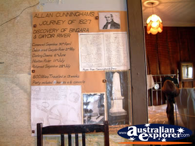 Bingara Museum Allan Cunningham Display . . . VIEW ALL BINGARA MUSEUM PHOTOGRAPHS