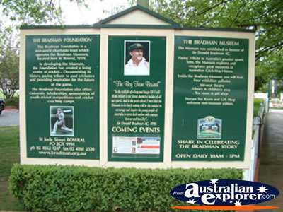Bowral Bradman Museum Entrance Sign . . . CLICK TO VIEW ALL BOWRAL POSTCARDS