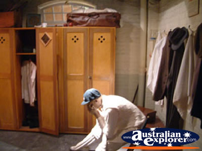 Bowral Bradman Museum Dressing Room . . . CLICK TO VIEW ALL BOWRAL POSTCARDS
