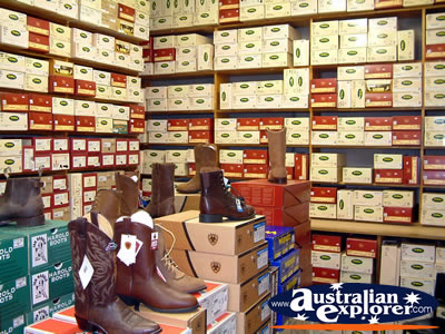 Moree Assefs Store Shoe Department . . . CLICK TO VIEW ALL MOREE POSTCARDS