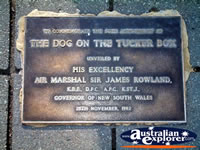 Gundagai, Dog on the Tuckerbox Plaque . . . CLICK TO ENLARGE
