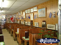 Booths at Gundagai Niagara Cafe . . . CLICK TO ENLARGE