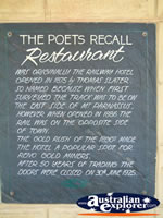 Poets Recall Motel Restaurant in Gundagai . . . CLICK TO ENLARGE