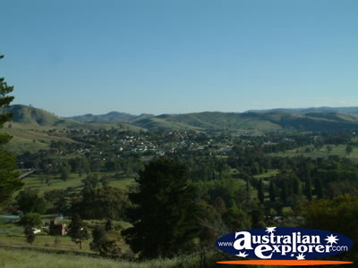 Gundagai's Lookout View . . . CLICK TO VIEW ALL GUNDAGAI POSTCARDS