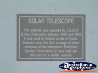 Narrabri Australian Telescope Plaque . . . CLICK TO ENLARGE