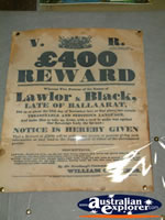 Ned Kelly Blacksmith Shop Reward Poster . . . CLICK TO ENLARGE
