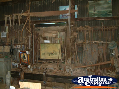 Inside at the  Ned Kelly Blacksmith Shop in Jerilderie . . . VIEW ALL JERILDERIE PHOTOGRAPHS