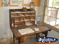 Jerilderie, Ned Kelly Post Office Desk . . . CLICK TO ENLARGE