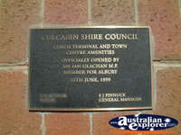 Culcairn Coach Terminal Plaque . . . CLICK TO ENLARGE