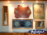 Gunnedah, Display Case in Courthouse Hotel . . . CLICK TO ENLARGE