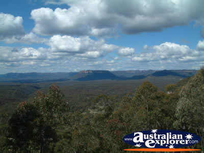 Lithgow, Blue Mountains View . . . CLICK TO VIEW ALL LITHGOW POSTCARDS