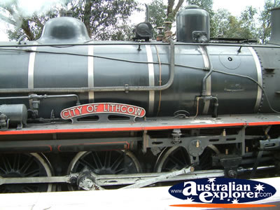 Lithgow, Zig Zag Railway Steam Train Close Up . . . CLICK TO VIEW ALL LITHGOW POSTCARDS