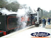 Black Steam Train at Lithgow, Zig Zag Railway . . . CLICK TO ENLARGE