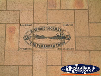 Lockhart History in Footpath . . . VIEW ALL LOCKHART PHOTOGRAPHS