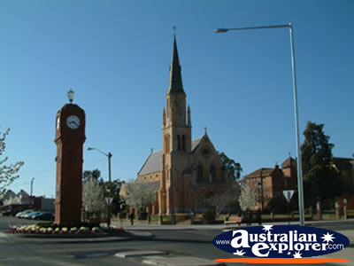Mudgee Clock & Church . . . VIEW ALL MUDGEE PHOTOGRAPHS
