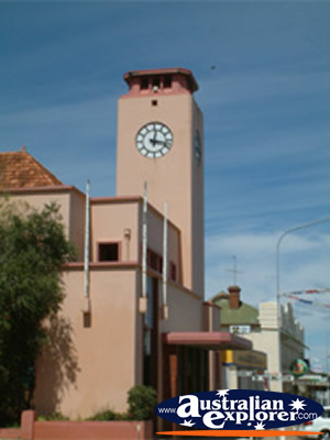 Parkes Town Clock . . . CLICK TO VIEW ALL PARKES POSTCARDS