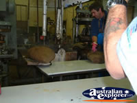 Final Touches of Making the Akubra . . . CLICK TO ENLARGE