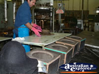 Shaping the Akubra . . . CLICK TO ENLARGE