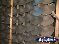 Range of Akubras in Wokshop in Kempsey . . . CLICK TO ENLARGE