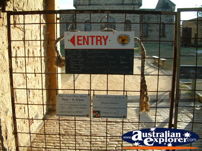 South West Rocks, Trial Bay Gaol Entry Gate . . . VIEW ALL TRIAL BAY (GAOL) PHOTOGRAPHS