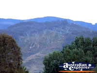 Khancoban Mountains from Behind Lakeside Caravan Park . . . CLICK TO ENLARGE