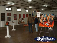 People Observing Art in the Bowraville Art Gallery . . . CLICK TO ENLARGE