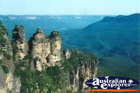 View of the Three Sisters and Blue Mountains . . . CLICK TO ENLARGE