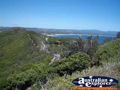View over Byron Bay . . . VIEW ALL POINT DANGER PHOTOGRAPHS