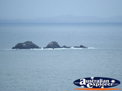 View over Ocean from Cape Byron . . . CLICK TO VIEW ALL CAPE BYRON POSTCARDS
