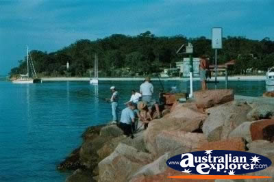 Fishing at Nelson Bay . . . CLICK TO VIEW ALL NELSON BAY POSTCARDS