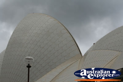 Top of Opera House . . . CLICK TO VIEW ALL SYDNEY POSTCARDS