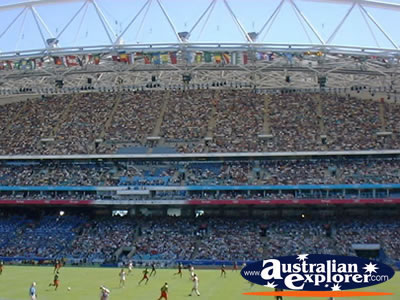 Olympic Stadium and Field in Sydney . . . CLICK TO VIEW ALL SYDNEY (OLYMPIC STADIUM) POSTCARDS