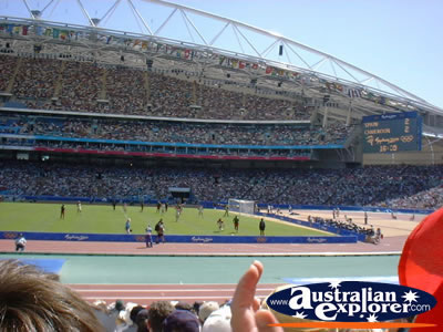 Olympic Stadium - Sydney View from Crowd . . . CLICK TO VIEW ALL SYDNEY (OLYMPIC STADIUM) POSTCARDS