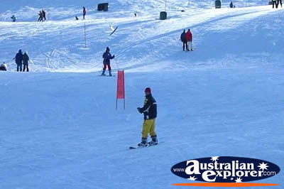 Skiing in the Snowy Mountains . . . VIEW ALL SNOWY MOUNTAINS (SKIING) PHOTOGRAPHS